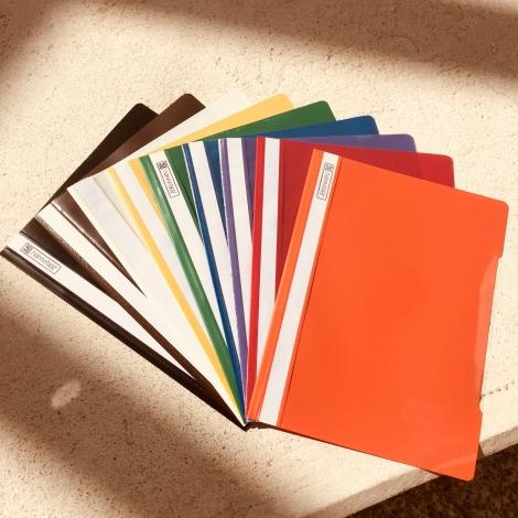 Klarsichthefter DIN A4 Herlitz, braun / Carpetas fastener Herlitz, marrón