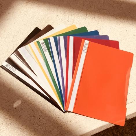 Klarsichthefter DIN A4, weiß / Carpetas fastener, blanco