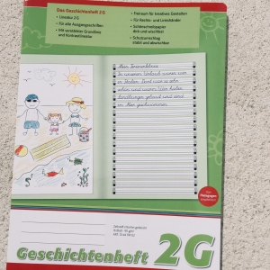 Geschichtenheft DIN A4, Lin. 2G / Cuaderno para cuentos DIN A4, 2G
