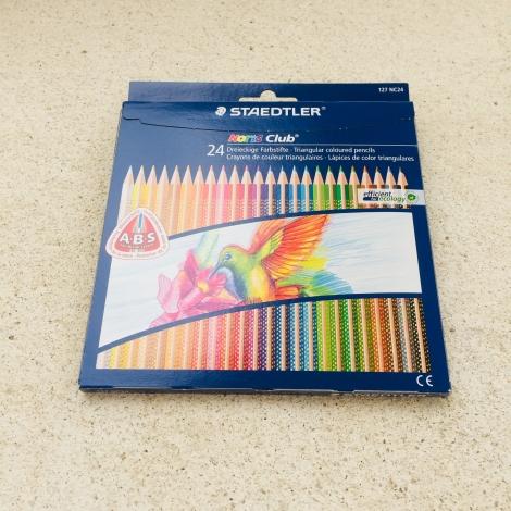 Buntstifte, 24 Farben / Lapices de color, 24 colores