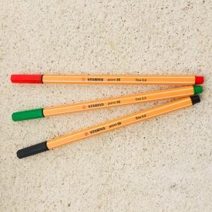 Fineliner Stabilo gruen / rotulador fino Stabilo verde
